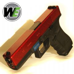 WE G17 Gen4 Gas Airsoft Pistol Anodized Red